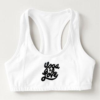 yoga is love Sports Bra