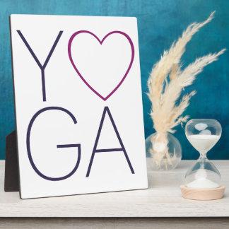 yoga love plaque