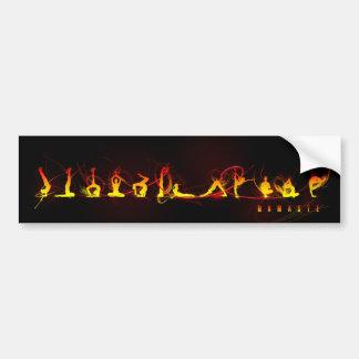 Yoga move bumper sticker