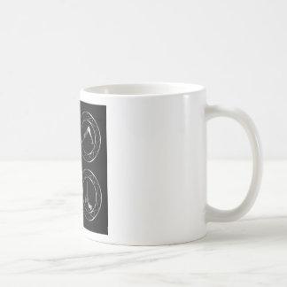Yoga or gymnast silhouette basic white mug