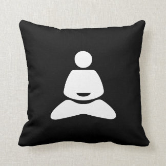 Yoga Pictogram Throw Pillow Throw Cushion