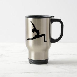 Yoga Pose Black Silhouette Travel Mug Mugs