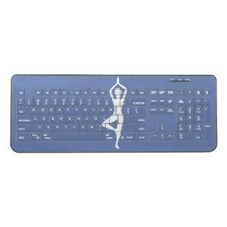 Yoga Pose Silhouette Wireless Keyboard