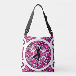 Yoga Pose tree ornamental pink Crossbody Bag