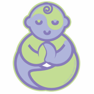 Yoga Speak Baby : Lil' Baby PIn Photo Sculpture Badge