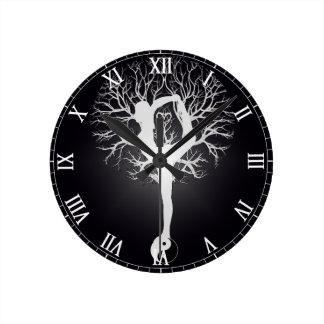 Yoga Tree Wall Clocks