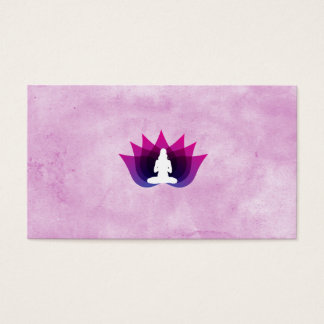 Yoga Watercolour Lotus Flower Business Card