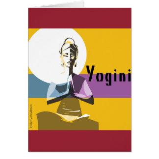 Yogi woman, yoga posture greeting card
