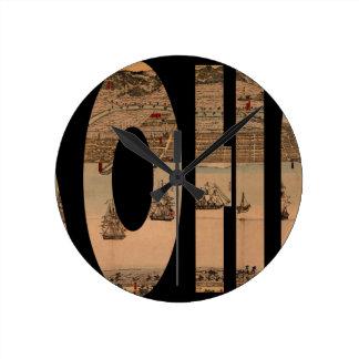yokohama1855 round clock