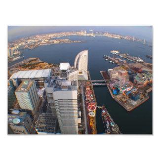Yokohama, Japan Cityscape Art Photo