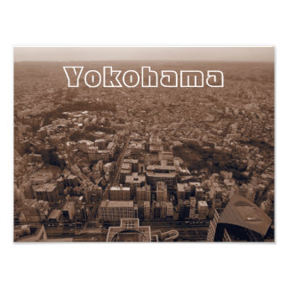 Yokohama Japan Sepia Photo Art