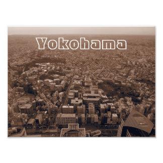Yokohama, Japan Sepia Photo Print
