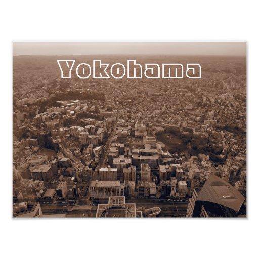 Yokohama, Japan Sepia Photo Art