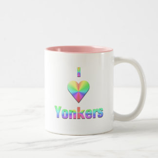 Yonkers -- Pastels Two-Tone Coffee Mug
