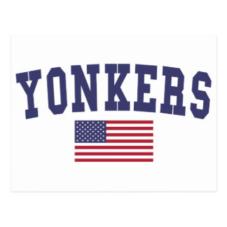 Yonkers US Flag Postcard