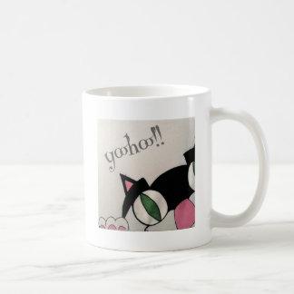 Yoohoo. Cute cat design. Mug