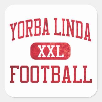 Yorba Linda Mustangs Football Square Sticker