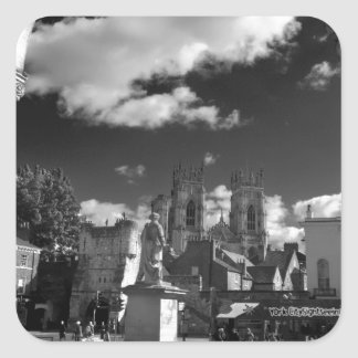York Minster and Bootham bar from the Gallery Square Sticker