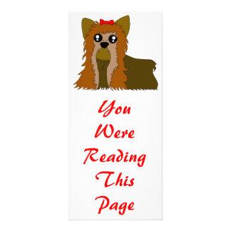 Yorkie Bookmark Template Rack Card