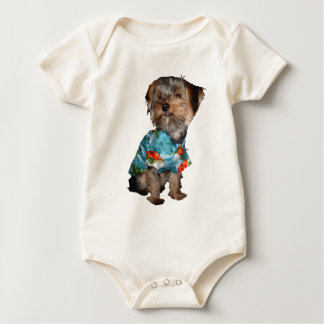 Yorkie with Hawaiian Shirt Infant Creeper