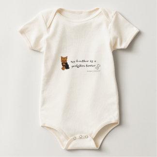 yorkshire terrier baby bodysuit