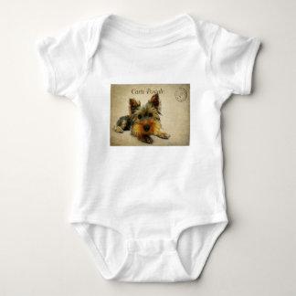 Yorkshire Terrier Dog Baby Bodysuit