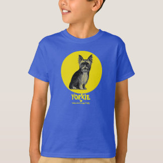 Yorkshire terrier ink pen drawing art t-shirt
