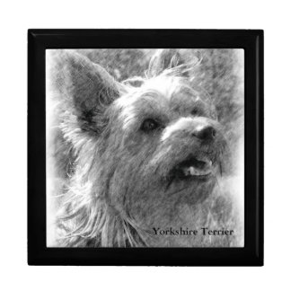 Yorkshire Terrier Pencil Drawing Gift Box