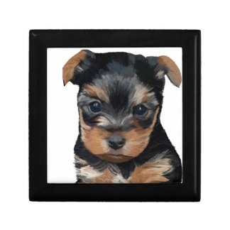 Yorkshire Terrier Puppy Art Gift Box