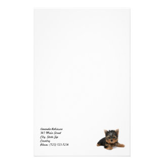 Yorkshire Terrier Puppy Stationery