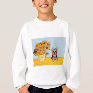 Yorkshire Terrier Puppy - Sunflowers Sweatshirt