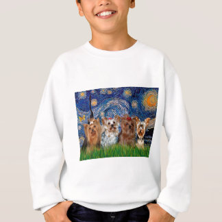Yorkshire Terrier Quad - Starry Night Sweatshirt
