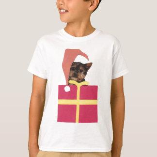 Yorkshire Terrier Santa Hat T-Shirt