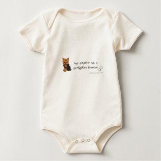 yorkshire terrier sister baby bodysuit