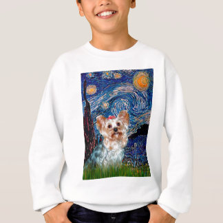 Yorkshire Terrier (T) - Starry Night (Vert.) Sweatshirt