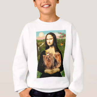 Yorkshire Terriers (two)  -  Mona Lisa Sweatshirt