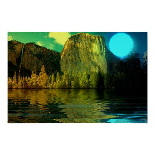 Yosemite-Blue-Moon-burst-set-1 Print