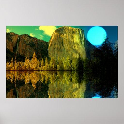 Yosemite-Blue-moonSet-1 Posters