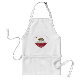 Yosemite California Republic Heart Distressed Standard Apron