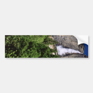 Yosemite Falls Sideways Bumper Sticker