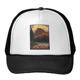 Yosemite National Park - Half Dome Travel Poster Trucker Hat