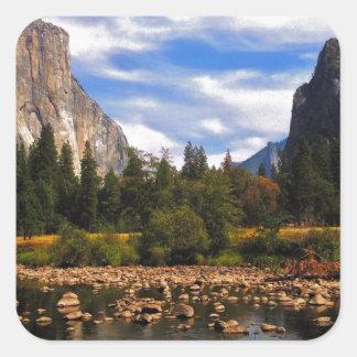 Yosemite National Park Square Sticker