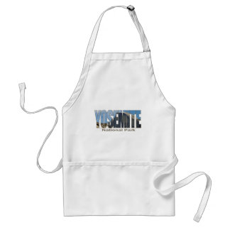 Yosemite National Park Text with Half Dome Standard Apron