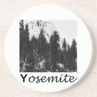 Yosemite No. 1 Black and White Coaster