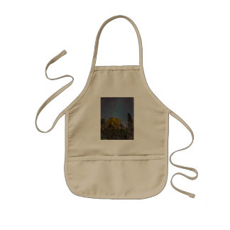 Yosemite Valley El Capitan night sky Kids Apron