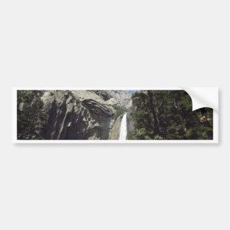 Yosemite waterfall bumper sticker