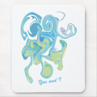 YOU AND I - FUN ABSTRACT LOVE drawing Mouse Pad