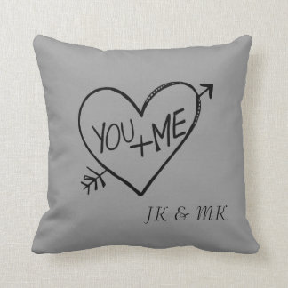 You and Me Heart Cushion