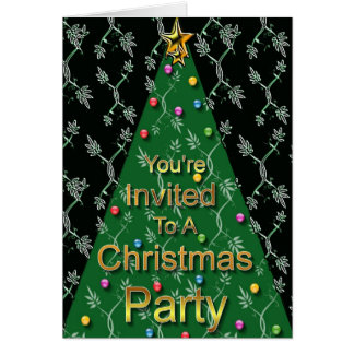 You're Invited To A Christmas Party Card