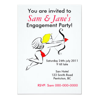 You are invited to A Engagement Party 13 Cm X 18 Cm Invitation Card